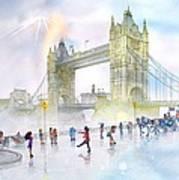 Memories Of London Bridge England Art Print