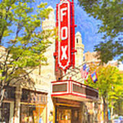 Memories Of The Fox Theatre Art Print by Mark E Tisdale