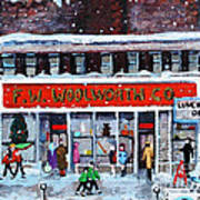 Memories Of Winter At Woolworth's Art Print