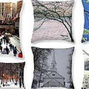 Memories Of Winter - A Collage Art Print