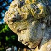 Memphis Elmwood Cemetery - Boy Angel Vertical Art Print