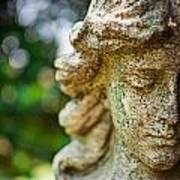 Memphis Elmwood Cemetery - Girl With Cross Close-up Art Print