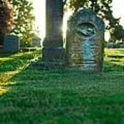 Memphis Elmwood Cemetery - Backlit Grave Stones Art Print