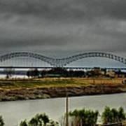 Memphis - Hernando De Soto Bridge 004 Art Print by Lance Vaughn