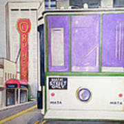 Memphis Trolley Art Print by Loretta Nash
