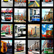 Memphis Trolleys Art Print