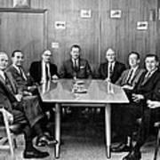 Men At A Business Meeting Art Print