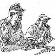 Men At The Bar Art Print