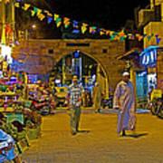Men In The Spice Market In Aswan-egypt  Art Print