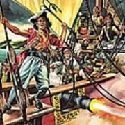 Men Of The Jolly Roger Art Print by Ron Embleton