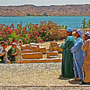 Men On Philae Island In Aswan-egypt  Art Print