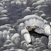 Mendenhall Lake Ice Abstract Art Print