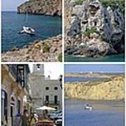 Menorca Collage 02 - Labelled Art Print