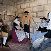 Menorquins Dress And Suit  Back In Time Xviii Century Art Print