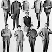 Men's Fashion, 1902 Art Print