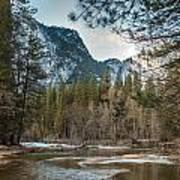 Merced River And Upper Yosemite Falls Art Print