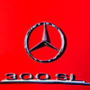 Mercedes 300 Sl Emblem -0121c Art Print