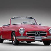Mercedes-benz 190 Sl Art Print