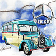 Mercedes Benz D-2600 Bus Art Print