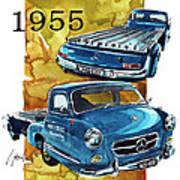 Mercedes Benz Racing Car Transport Art Print