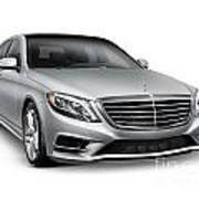 Mercedes-benz S550 4matic Luxury Car Art Print
