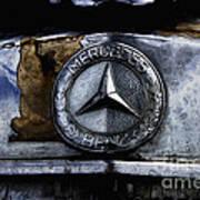 Mercedes Benz Shabby Chic Art Print