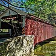 Mercers Mill Covered Bridge Art Print