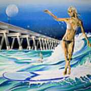 Mercers Surfer Art Print