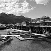 Merchants Wharf In Black And White Art Print