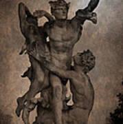 Mercury Carrying Eurydice To The Underworld Art Print
