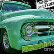 Mercury Truck Bw Background Art Print
