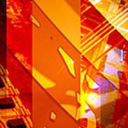 Merged - Arched Orange Art Print