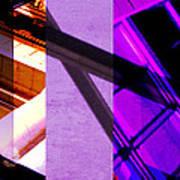 Merged - Purple City Art Print