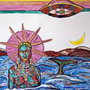 Yemoja Ufo  Art Print
