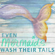 Mermaid Bath II Art Print