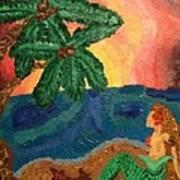 Mermaid Beach Print by Oasis Tone