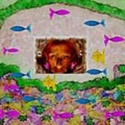 Mermaid In Her Cave Art Print