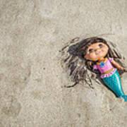 Mermaid In The Sand Art Print