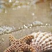 Mermaid Kisses And Starfish Wishes Art Print