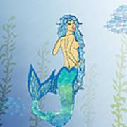 Mermaid Paint The Sea  Art Print