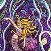 Mermaid Under The Sea Art Print