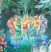 Mermaids Danicing Art Print