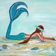 Mermaids Exist Art Print