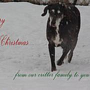Merry Christmas Critters Hershey Art Print