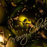 Merry Christmas Greeting Art Print