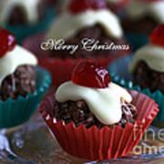 Merry Christmas - Puddings Art Print
