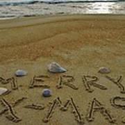 Merry Christmas Sand Art 1 12/25 Art Print