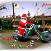 Merry Christmas  Seasons Greetings  Happy New Year Art Print