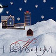 Merry Christmas Art Print by Susan Candelario