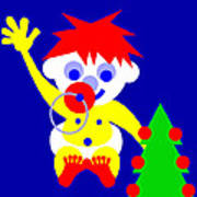 Merry Christmas to you from the HI WORLD Baby Art Print